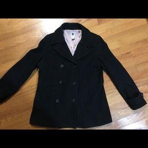 The Gap Black Wool Peacoat - Large